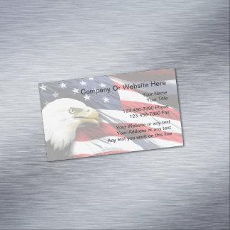Magnet patriotique de carte de visite