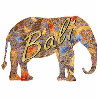 Magnet Photo Sculpture Aimant d'éléphant de batik de fantaisie