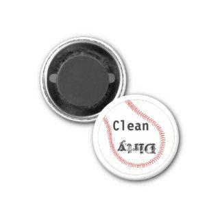 Magnet propre sale de lave-vaisselle de base-ball