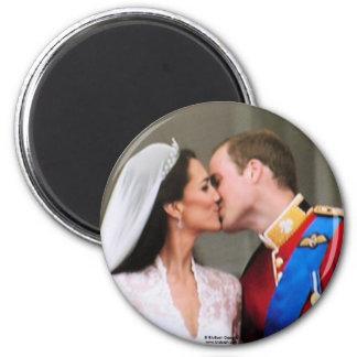 Magnet royal de mariage magnet rond 8 cm