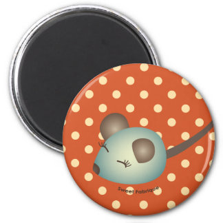 "Magnet ""Souris verte"" - Collection Kiwi Doll Magnet Rond 8 Cm"