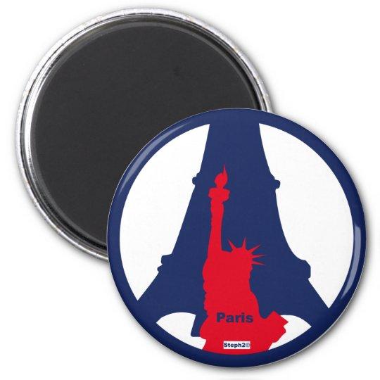 Magnet Tour Eiffel /Statut de la liberte ©steph2