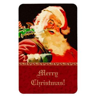 Magnet vintage de cadeau de Noël du père noël