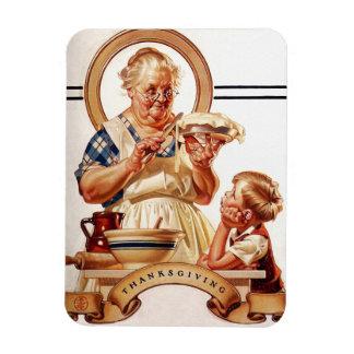 Magnet vintage de cadeau de thanksgiving d'art
