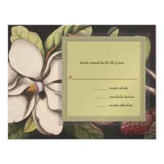 Magnolia épousant RSVP Carton D'invitation 10,79 Cm X 13,97 Cm