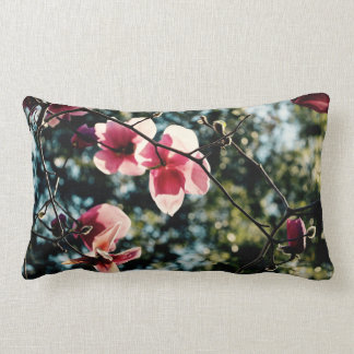 Magnolia rose - tropicale - coussin lombaire