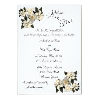 Magnolias épousant des invitations