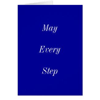 Mai chaque étape vous apportent la paix cartes