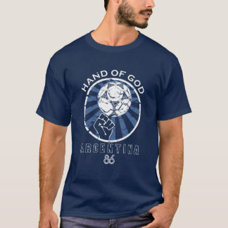 Main de coupe du monde de Maradona 86 de Dieu T-shirt