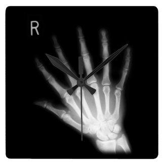 Main droite supplémentaire de rayon X de chiffre Horloge Carrée