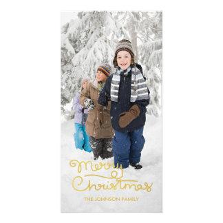 Main du carte photo | de vacances de Noël marquée Photocartes