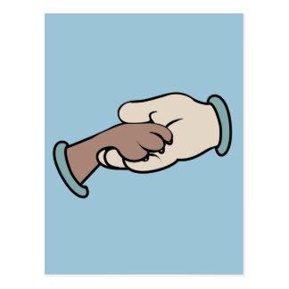 main et paw cartes postales