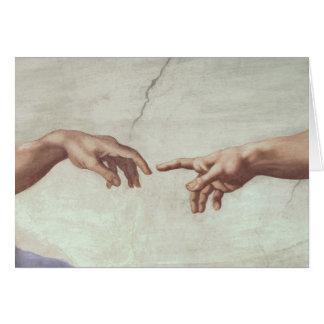 Mains de Dieu et d'Adam Carte De Vœux