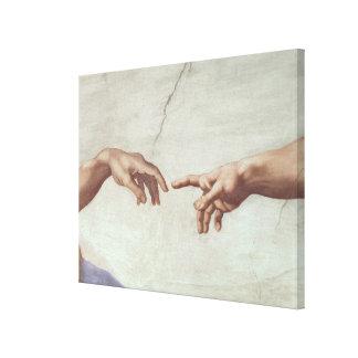 Mains de Dieu et d'Adam Toiles