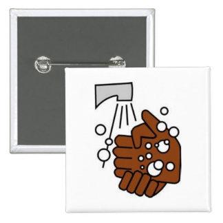 Mains de lavage badges