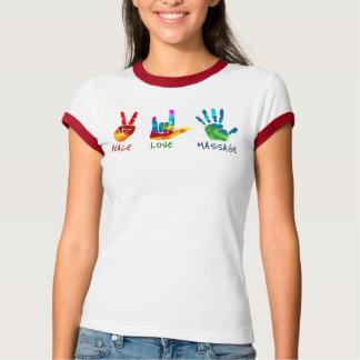 Mains de massage d'amour de paix - colorant de t-shirt