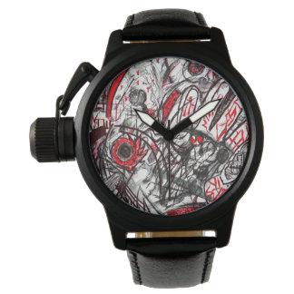 Mains de montre-bracelet d'oeil de serpent de rage montres cadran