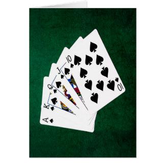 Mains de poker - quinte royale - costume de pelles cartes