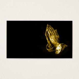 Mains de prière cartes de visite