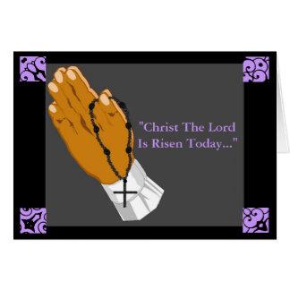 Mains de prière le Christ croisé le seigneur Is Ri Cartes De Vœux