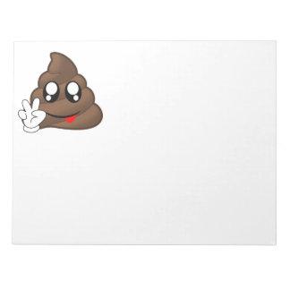 Mains de signe de paix d'Emoji de dunette Blocs Notes