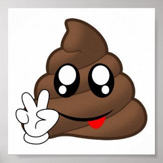 Mains de signe de paix d'Emoji de dunette Poster