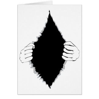 Mains déchirant la surface 2 cartes