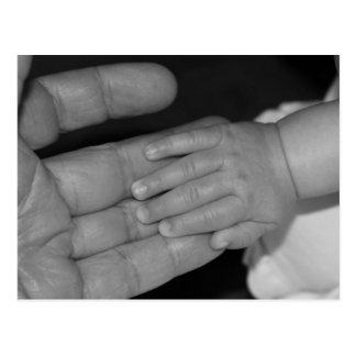 Mains en noir et blanc carte postale