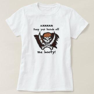 Mains outre de moi femmes de T-shirt de pirate de