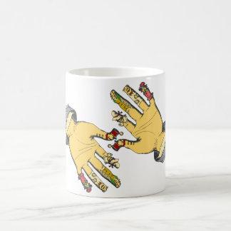Mains principales. Tasse de café finale !