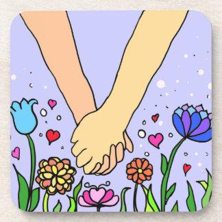 Mains se tenantes romantiques - datation/cadeau d' sous-bock