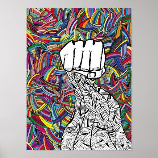 Mains. Voyage psychédélique art. Posters