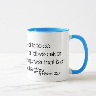 Maintenant à lui qui peut faire incalculablement mug