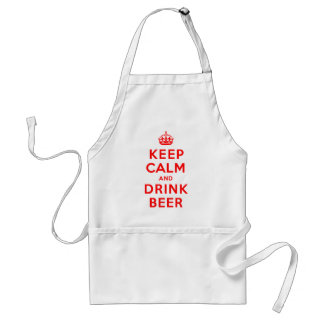 Maintenez bière calme et de boissons tablier