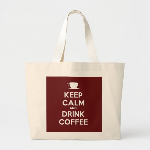 Maintenez café calme et de boissons sacs en toile