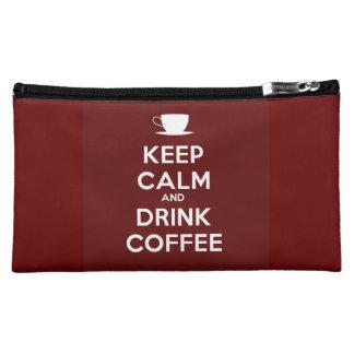 Maintenez café calme et de boissons pochettes make-up