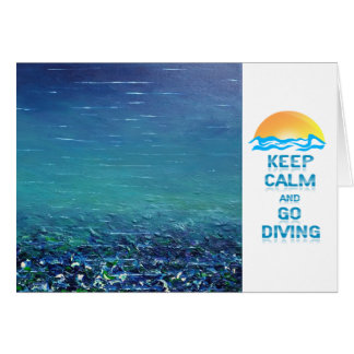Maintenez calme et allez carte de voeux de plongée