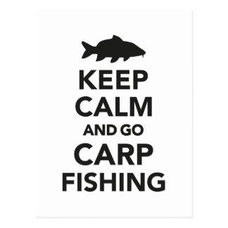 """""""Maintenez calme et allez carte postale de pêche"""
