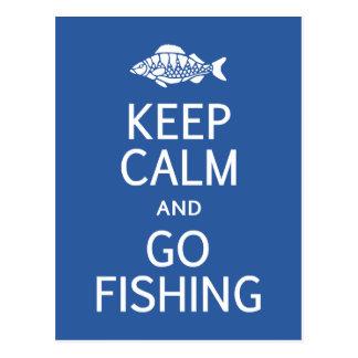 Maintenez calme et allez pêcher la carte postale