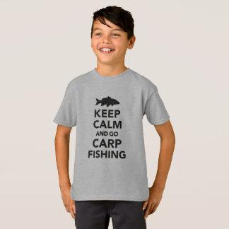 """""""Maintenez calme et allez T-shirt de pêche de"""