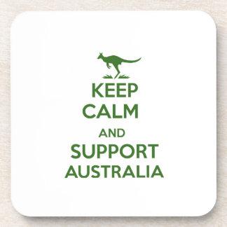 Maintenez calme et appui Australie Dessous-de-verre