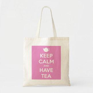 Maintenez calme et ayez le sac fourre-tout rose à