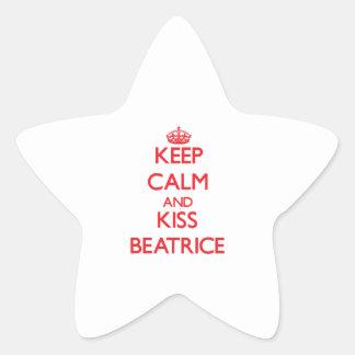 Maintenez calme et baiser Béatrice Autocollants En Étoile