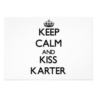 Maintenez calme et baiser Karter Faire-parts