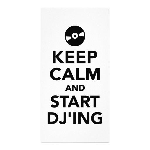 Maintenez calme et commencez le DJ Photocartes Personnalisées
