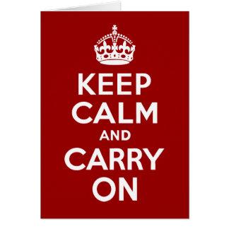 Maintenez calme et continuez la carte