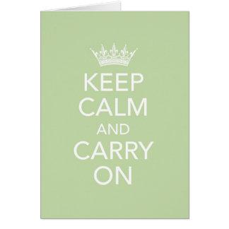Maintenez calme et continuez la carte de note
