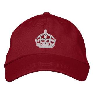 Maintenez calme et continuez la couronne casquette brodée