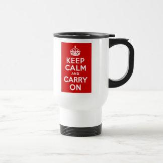 Maintenez calme et continuez la tasse