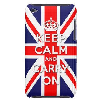 maintenez calme et continuez le drapeau d Union Ja Coque iPod Case-Mate